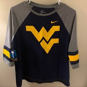 Brand New! Nike WVU Woman's 3/4 length tee